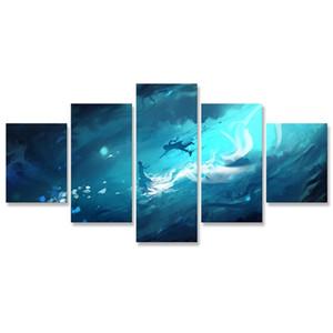 Final Fantasy XV Modüler Resimleri HD Baskılar Tuval 5 adet Ev Dekorasyonu Yapı Wall Art Frame Artwork Poster Boyama