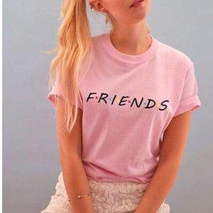 2020 donne sexy T-shirt stampate Lettera AMICI casual Maglietta Bambina Outfits Clubwear sorella è installato Top