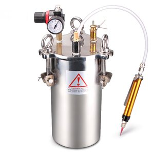 Manual Dispenser Yellow Glue Machine 5L Stainless Steel Barrel   Carbon Steel Barrel + Large Flow Hand Control Dispensing Valve