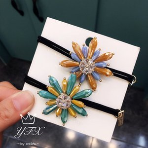 20190707 Pillhead Crystal Flower Temperament Hair Ring