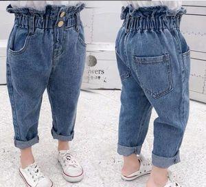 2019 весной и осенью детская одежда повседневные джинсы брюки, детская одежда новорожденных девочек джинсовые брюки карандаш джинсы для девочек SH190907