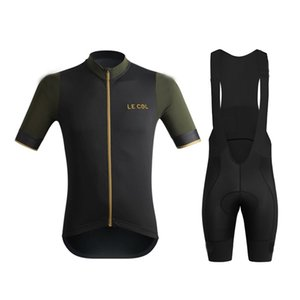Le col 2020 Männer Radfahren Set Radtrikot Set-Straßen-Fahrrad-Abnutzung Breathable Anti-UV MTB Bike Bekleidung Bekleidung Triathlon