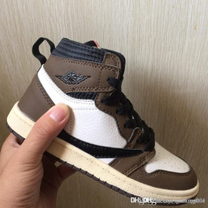 Travis Scott 1s Baby Kids Basketball Shoes Designer Mid Cactus Jack Sneakers Children Sports Shoes Boy Girl Toddler Trainer Running Shoes