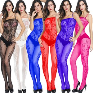 Различные цвет Сексуальное женское белье Женская Bodysuit Белье See Through Sexy Lace Babydoll Ночное белье Эротические пижамы