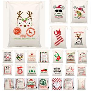 Le plus récent de Noël Père Noël Père Noël Sacs Sack Sac à cordonnet toile Sucrerie Sacs Cadeaux Enfants Cadeaux de Noël AN2552 Reindeers Arbre
