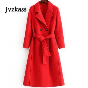 Jvzkass2018 automne et hiver double face cachemire% 100 laine double face pure cousu à la main taille manteau en laine tempérament slim Z266