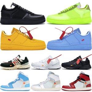 2020 Лучшего качество Dunk марка Один Летающих низкий MCA университета Золотых Синего Mesh Черной Мужчины Женщина Дизайнерская Спорт Баскетбол Скейтбординг обувь 36-45
