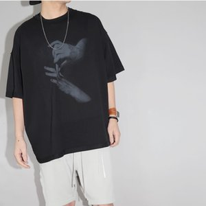 20SS doigt Pause L'impression de tshirt en vrac High Street Vintage T Mode Shorts Coton Hommes Femmes Couple Designer Hip Hop T-shirt HFXHTX121