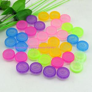 100 set Caso contenitore scatola porta lenti colorate a contatto per ammollo stoccaggio kit per la cura degli occhi Custodie per astuccio doppio caso