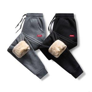 2020 Thick Fleece Jogger Mens Pants Sports Cotton Trousers Male Winter Warm Velvet Sweatpants Harem Pencil Tracksuit Autumn 4Xl T200706