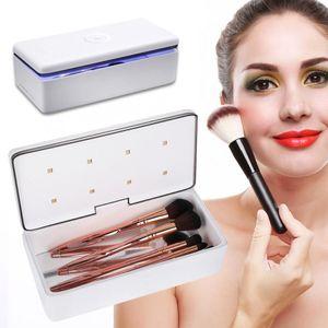 59S 스마트 LED UV 살균기 상자 손톱 액세서리 Comestics 메이크업 브러쉬 개인 관리 도구 UV 소독 상자 청소 장치