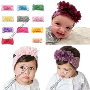 Turban Stirnband Kinder Kinder DIY Bowknot Stirnbänder Baby Baumwolle Bogen Headwraps Haarschmuck Haarbänder Bandana