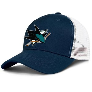 San Jose Sharks Teal Primary Logo mens and womens adjustable trucker meshcap designer sports cute classic baseballhats ice hockey gold