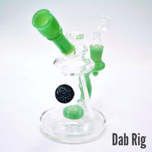 Y4 الزجاج النفط تلاعب أنابيب المياه دش بيرس الزجاج الصغيرة بونغ ميني مسكر الزجاج إعادة التدوير مع السجق