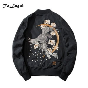 Men Jackets 2020 Embroidery Coat Men Sukajan Yokosuka Souvenir Jacket Fashion Youth Bomber Jackets Streetwear Baseball Uniform