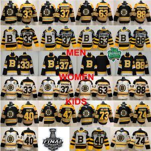 Man Boston Bruins Charlie McAvoy Jersey Jake DeBrusk Zdeno Chara Patrice Bergeron Brad Marchand David Pastrňák Tuukka Rask Torey Krug Hockey