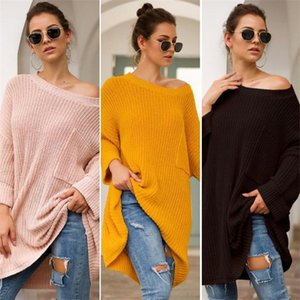 Autumn Winter Women Designer Sweaters Fashion Leisure Style Long Sleeve Loose Sweaters Knit Women Clothes