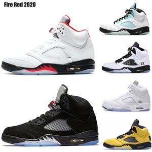 Bred İlk 3 yeni 2020 Ateş Kırmızı 5 5s Sneakers 7-13 Erkekler Siyah Metalik Wings 5s Spor Ayakkabılar Basketbol Ayakkabı Yansıtan