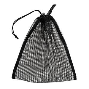 Piscina acessórios baratos Durable malha Nets Bag Bolsa de Mergulho Engrenagem Golfe Ténis 30 Balls Carrying Holder Clip armazenamento no Caddy