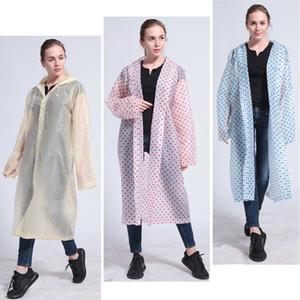 الأزياء ثخن EVA دوت عباءة الكبار ماء هود المعطف السفر التخييم يجب أن المطر معطف للجنسين ملابس ضد المطر الطوارئ