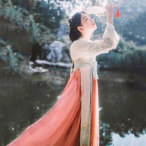 Hanfu Ancient Chinese Costume Tang Dynasty Folk Costume vestimentaire pour les femmes Princesse Costumes Dance Festival Hanfu