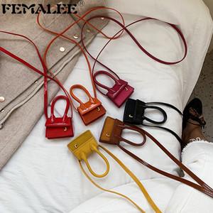 Luxury Fashion Super Mini brevetto Leatther borsa J Lettera Borsa a tracolla donne progettista Croce Body Bag Lady Messenger borsetta