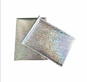 Large Size Laser Silver Mailing Envelope Courier Bag Bubble Mailers Padded Envelopes Packaging Shipping Bag 23*30 cm