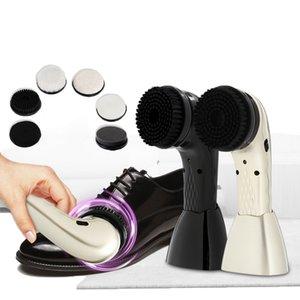 10 шт Многофункциональный электрический Shoe Care Kit Полировщик Handheld Чистка обуви щетки машины для кожи кроссовки обувь Уход