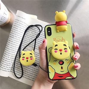 Чехлы для iPhone 3D мультфильм животных мягкий тонкий силиконовый защитный чехол противоударный чехол девушки подростки милые подарки чехлы толстый протектор кожи