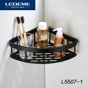 LEDEME 선반 샤워 알루미늄 선반 욕실 선반 샤워 샴푸 홀더 볼트 삽입 유형 바구니 L5507-1