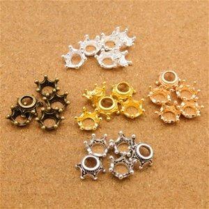 150pcs Charme en trois dimensions couronne impériale perle 12 * 12MM0.6g Antique silver gold Handmade bracelet Making Making Bijoux DIY Fournitures