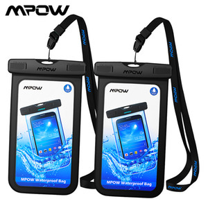 [2 PCS] Mpow PA078 IPX8 Universal Waterproof Phone Case Pouch For iPhone X Dry Bag Hiking Dirtproof Snowproof Pouch For Xiaomi