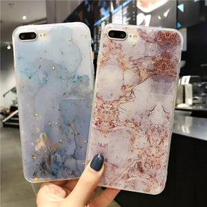 Lovebay Phone Case For iPhone 11 6 6s 7 8 Plus X XR XS Max Luxury Bling Gold Foil Marble Glitter Soft TPU For iPhone 11 Pro Ma