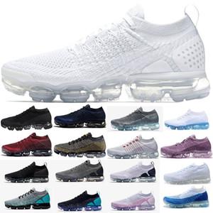Nike vapormax air max airmax flyknit 2.0 1.0 shoes Designer shoes pour les hommes adultes Sport 2018 Printemps Été Respirant Maille Chaussures de Course mâle Sneakers zapatillas formateurs athlétique
