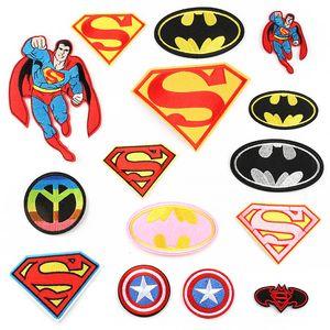 Super Hero Вышивка Патчи Для Детской Одежды Супермен Капитан Америка Швейные Утюг На Патч Аппликация DIY Знак Для Джинсовой Сумки