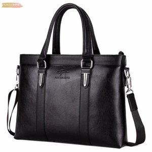 Brand Top Sell Man Bag Fashion Simple Vintage Business Man Briefcase Bag Leather Laptop Bag Casual Shoulder Bags