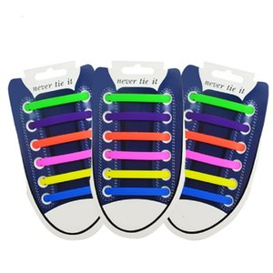 12pcs lot Elastic Silicone Shoelaces For Shoes Special Shoelace No Tie Shoe Laces For Men Women Lacing Shoes Rubber Shoelace