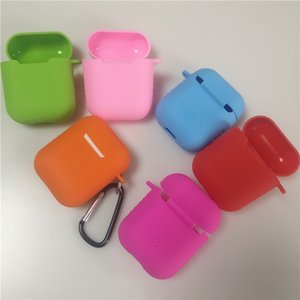 16 Colors Earphone Case for AirPods Silicone Headphones Cover For Apple earphone 360-degree Protective Headphone Shell