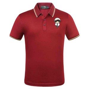 Neue Art und Weise = 20202 Top Hip Hop, Designer Bermuda-Tag Kleidung Männer Stoff Brief Polo T-Shirt Umlegekragen beiläufige Frauen T-Shirt Marken