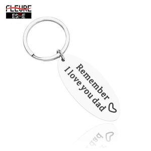 Schlüsselanhänger Trendy Schlüsselanhänger Geschenk für Vater Papa Denken Sie daran, dass ich Sie lieben