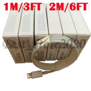 100pcs / lot 6 Generationen Original-OEM-Qualität 1m / 3ft 2M / 6ft USB-Daten-Synchronisierungs-Gebühren-Kabel mit neuem Paket