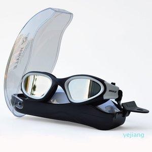 luxury- anti-buée Uv Anti-UV Hommes Femmes Lunettes Lunettes imperméable Lunettes de natation en silicone réglable pour la natation C19041201