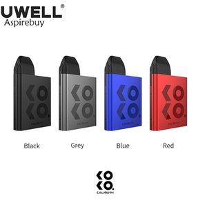 Uwell Caliburn КОКО Kit 520mAh Встроенный аккумулятор с 2мл Caliburn КОКО Pod Cartridge 1.4ohm Coil Head Портативный Vape Pod Kit 100% оригинал