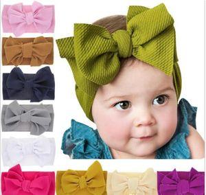 Babys großer Bogen-Kreuz-Stirnband-Kinder-Haar beugt elastische Kopfbedeckung Kopfschmuck Haarband Headwrap Turban Kinder Haarschmuck