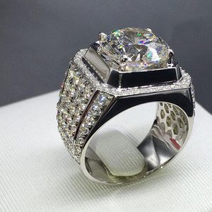 desigenr jewelry honeycomb crystal wide rings large zircon rings for men hot fashion free of shipping