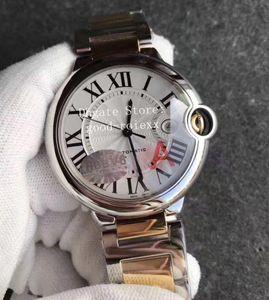 Luxury Luminous Часы Мужские автоматические Eta 2824 Ballon Часы Дата белый циферблат Мужчины W69009Z3 Swiss Gold Steel Dress HBBV6 Factory Наручные часы