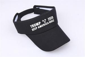 패션 트럼프 2020 바이저 모자 양산 야외 빈 지붕 캡 자수 영어 유지 미국 큰 파티 모자 블랙 레드 5ly E1