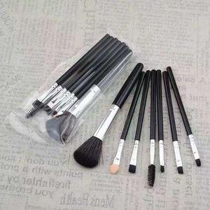 7 pcs pinceaux de maquillage ensemble fan professionnel poudre base pinceau blush mélange fard à paupières lèvre cosmétique oeil maquillage pinceaux kit outils RRA1772