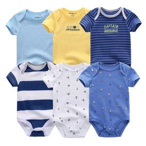 2019 6PCS Lot Unisex Unicorn Baby Boy Clothes Cotton Kids Clothes Newborn Rompers 0-12M Baby Girl Clothes Roupa de bebe