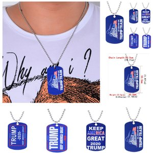 Donald Trump Train 2020 Pendant Necklace Keep Make America Great Trump ID Tags Travel Address ID Card Case Bag Labels Card HH9-2473
